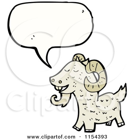 Cartoon of a Talking Goat - Royalty Free Vector Illustration by lineartestpilot