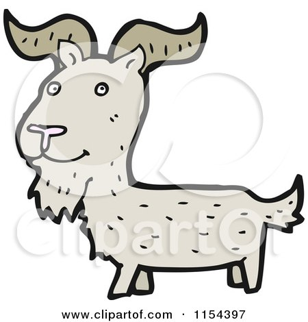 Cartoon of a Goat - Royalty Free Vector Illustration by lineartestpilot