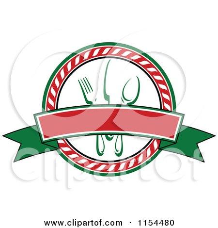 Clipart of an Italian Restaurant Logo 3 - Royalty Free Vector Illustration by Vector Tradition SM