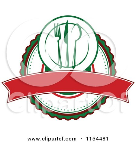 Clipart of an Italian Restaurant Logo 2 - Royalty Free Vector Illustration by Vector Tradition SM