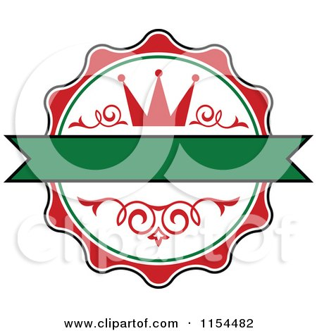 Clipart of an Italian Crown Logo - Royalty Free Vector Illustration by Vector Tradition SM