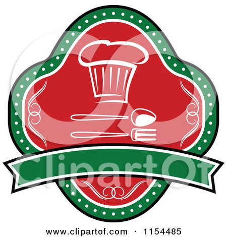 Clipart of an Italian Restaurant Logo 5 - Royalty Free Vector Illustration by Vector Tradition SM