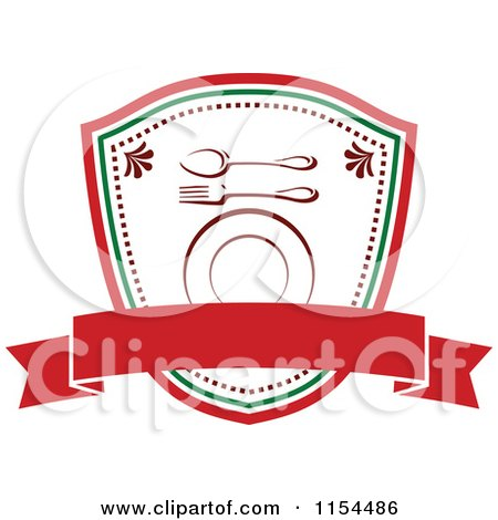Clipart of an Italian Restaurant Logo 4 - Royalty Free Vector Illustration by Vector Tradition SM