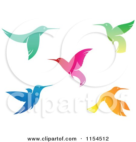 Clipart of Hummingbirds - Royalty Free Vector Illustration by Vector Tradition SM