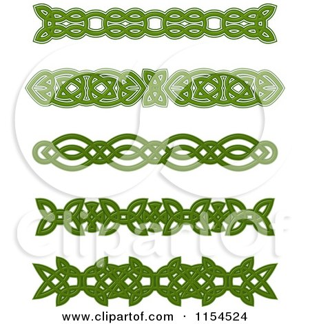 Royalty-Free (RF) Clipart of Green Celtic Borders ...
