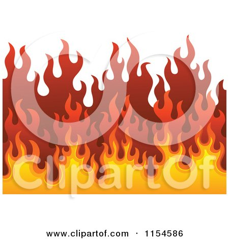 Cartoon of a Background of Flames - Royalty Free Vector Clipart by visekart