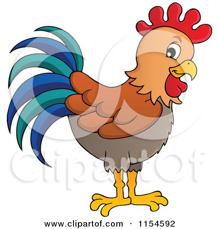 Rooster Crowing Sunrise