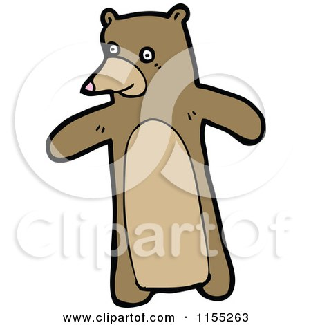 Cartoon of a Bear - Royalty Free Vector Illustration by lineartestpilot