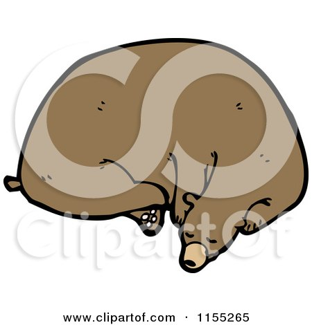 Cartoon of a Resting Bear - Royalty Free Vector Illustration by lineartestpilot