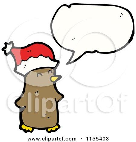 Cartoon of a Talking Christmas Bird - Royalty Free Vector Illustration by lineartestpilot