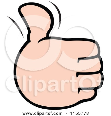 Cartoon of a Hand Holding up a Thumb - Royalty Free Vector Illustration by Johnny Sajem