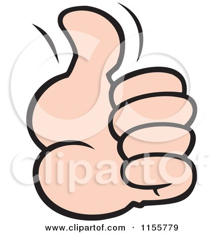 Cartoon of a Hand Holding a Thumb up - Royalty Free Vector Illustration by Johnny Sajem