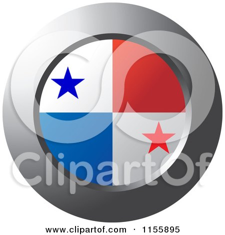 clipart of a chrome ring and panama flag icon royalty free vector illustration by lal perera. Black Bedroom Furniture Sets. Home Design Ideas