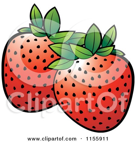 Clipart of a Strawberry Icon - Royalty Free Vector Illustration by ...