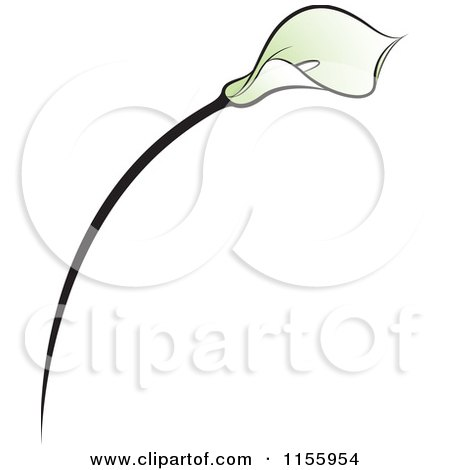 Clipart of a Green Lily Flower - Royalty Free Vector Illustration by Lal Perera