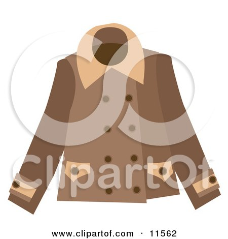 Brown Ladies Coat Clipart Picture by AtStockIllustration