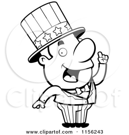 Cartoon Clipart Of A Black And White Creative Uncle Sam ... | 450 x 470 jpeg 29kB