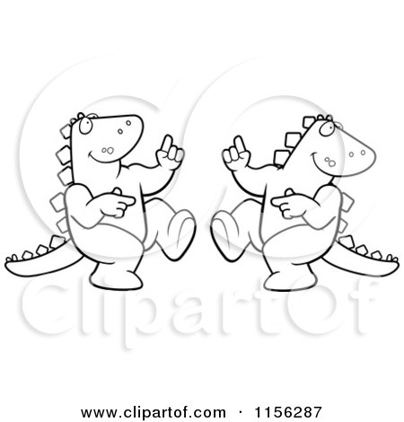 dancing dinosaur coloring pages | Royalty Free Dinosaur Illustrations by Cory Thoman Page 7