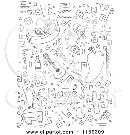 Black And White Collage Of Cinco De Mayo Doodles 1156309 moreover 111793161892 in addition 451556300118318958 as well My Five Senses Emergent Reader moreover Candy And Sweets. on dr who coloring pages printable