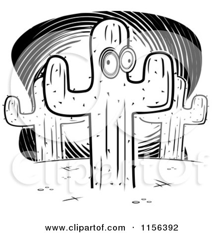 Royalty Free Rf Clipart Illustration Of A Happy Cactus Wearing A Hat