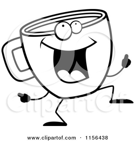 Coffee Cup Clip Art Black White Black And White Coffee Cup