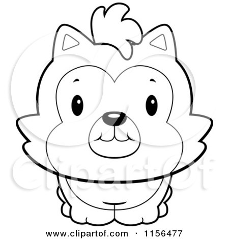 black and white cute husky dog - Cute Husky Puppies Coloring Pages