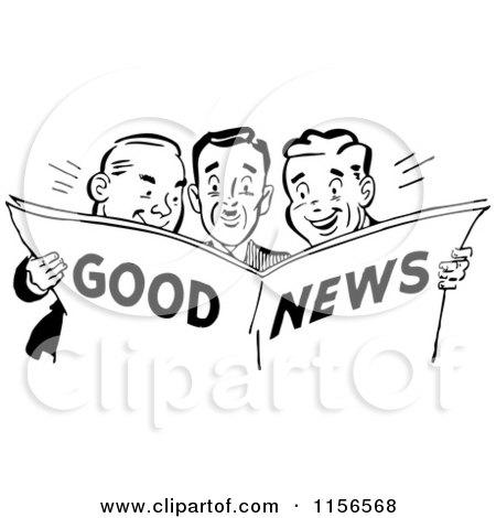 royaltyfree rf clipart of good news illustrations