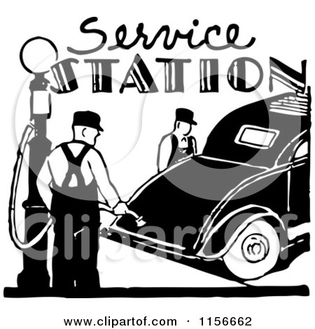 Clipart of a Black and White Retro Couple Cruising 2 ...
