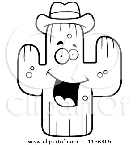 Royalty Free Rf Clipart Illustration Of A Happy Cactus
