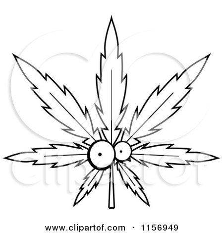 Clipart Happy Marijuana Pot Leaf