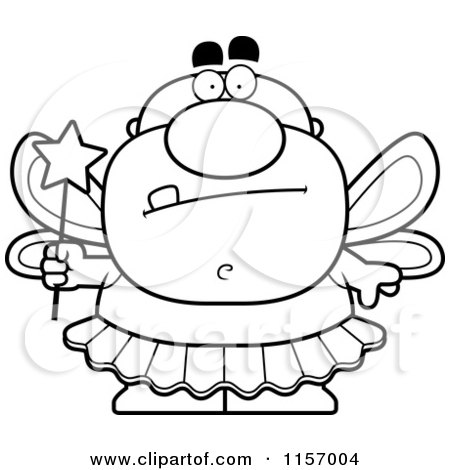 cartoon clipart of a black and white tooth fairy man vector outlined coloring page by cory. Black Bedroom Furniture Sets. Home Design Ideas