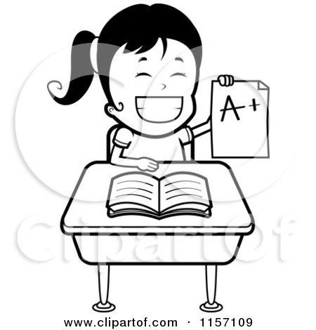 Girl Student Writing At Desk Hot Girls Wallpaper