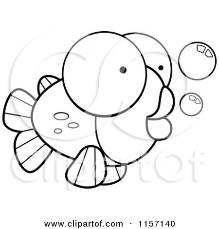 Goldfish Clip Art Black And White Preview Clipart