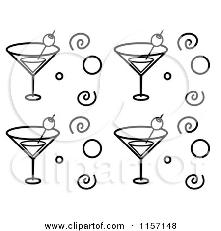 Cartoon Of A Happy Martini Mascot Royalty Free Vector