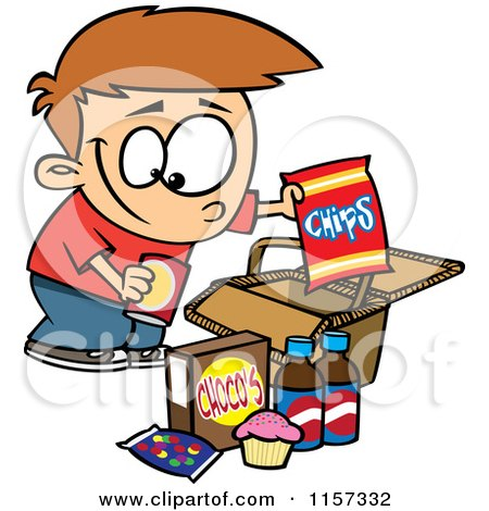 Royalty Free Rf Clipart Of Junk Foods Illustrations