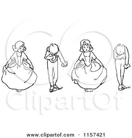 Royalty Free Rf Curtsy Clipart Illustrations Vector