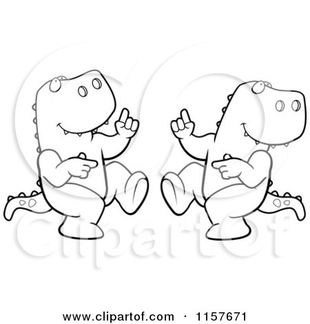 Royalty Free Rf Dancing T Rex Clipart Illustrations Vector