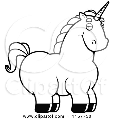 Cartoon of a Happy Smiling Unicorn - Royalty Free Vector Clipart ...