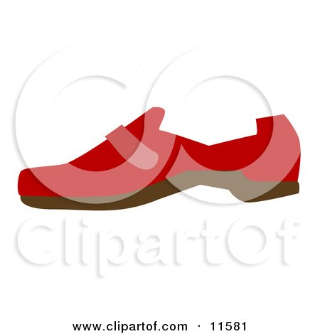 Red Shoe Clipart Picture by AtStockIllustration