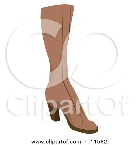 Brown Boot Clipart Picture by AtStockIllustration