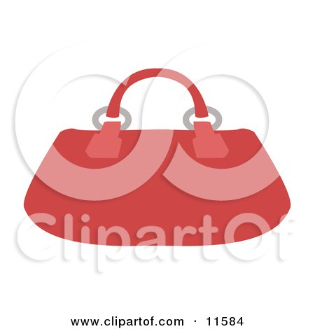 Red Purse Clipart Picture by AtStockIllustration