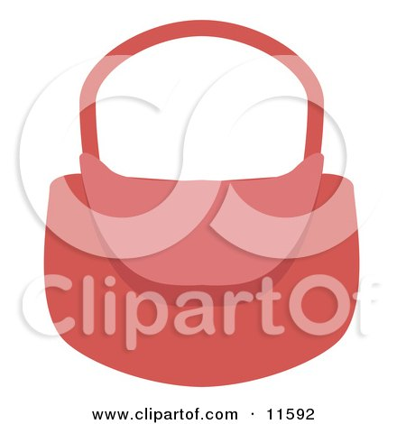 Woman's Pink Purse Clipart Picture by AtStockIllustration