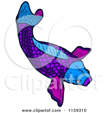Royalty free koi illustrations by lineartestpilot page 1 for Purple koi fish
