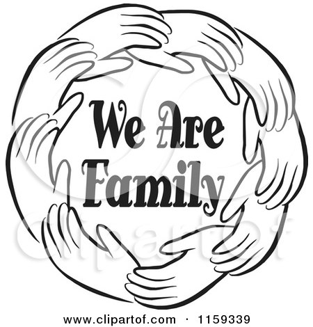 Royalty-Free (RF) We Are Family Clipart, Illustrations, Vector ...
