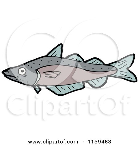 Cartoon of a Fish - Royalty Free Vector Illustration by lineartestpilot