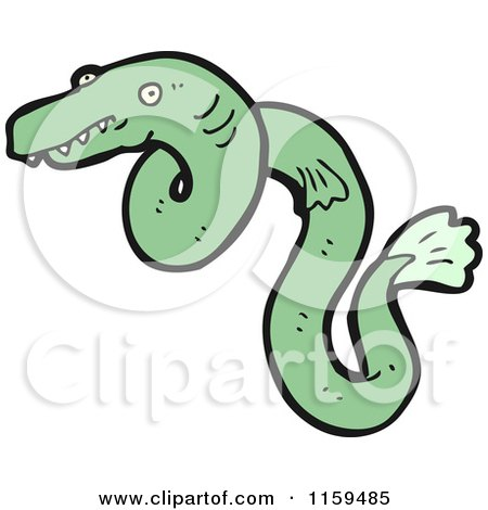 Cartoon of an Eel - Royalty Free Vector Illustration by lineartestpilot