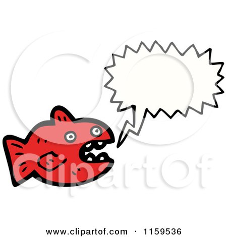 Cartoon of a Talking Red Fish - Royalty Free Vector Illustration by lineartestpilot