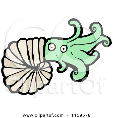 Cartoon of a Nautilus - Royalty Free Vector Illustration by lineartestpilot