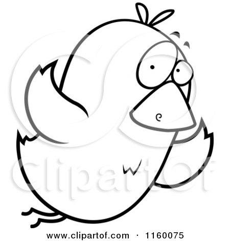 Flying bird cartoon black and white - photo#8