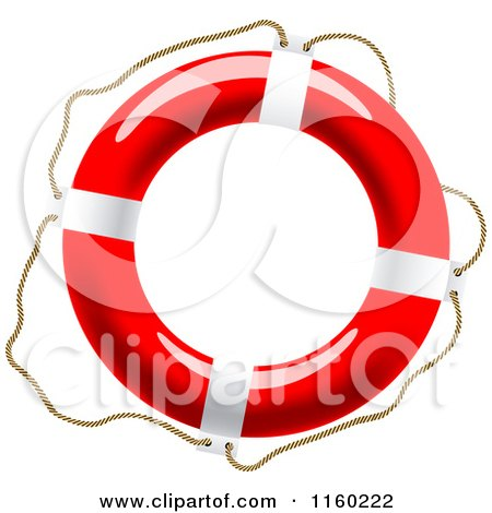 Clipart of a Life Buoy with a Rope - Royalty Free Vector Illustration by Vector Tradition SM